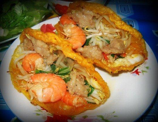 Quán bánh khoái ở Huế